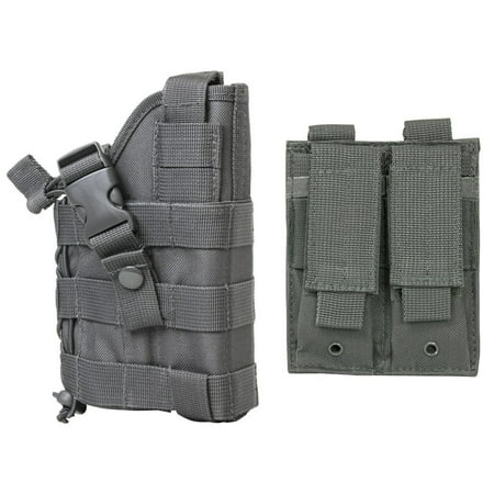 WOLF GREY MOLLE Compatible Holster With FREE MOLLE Compatible 2 Pocket Magazine Pouch / The Holster Fits SIG SAUER P226 P229 P250 SP2022 P320 Mosquito.., By m1surplus from (Sig Sauer P320 Rx Compact For Sale)