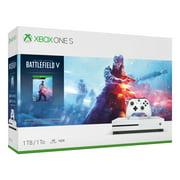 Microsoft Xbox One S 1TB Battlefield V Bundle, White, 234-00679