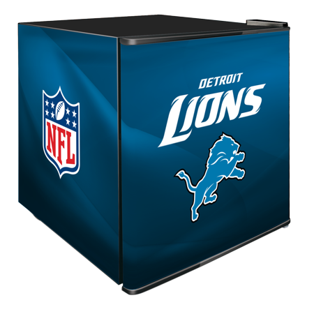 NFL Solid Door Refrigerated Beverage Center 1.8 cu ft- Detroit Lions by