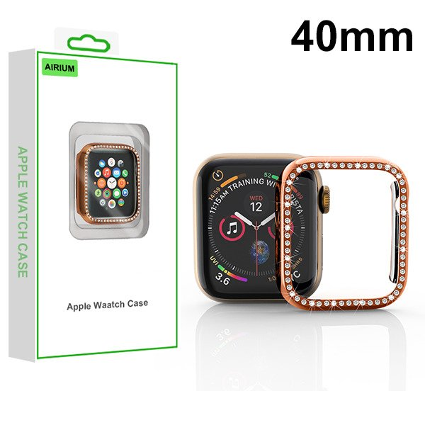 Mybat Airium Electroplated Apple Watch Case With Diamonds For Apple Watch Series 4 40mmwatch Se 40mm Watch Series 6 40mm Rose Gold Walmart Com Walmart Com