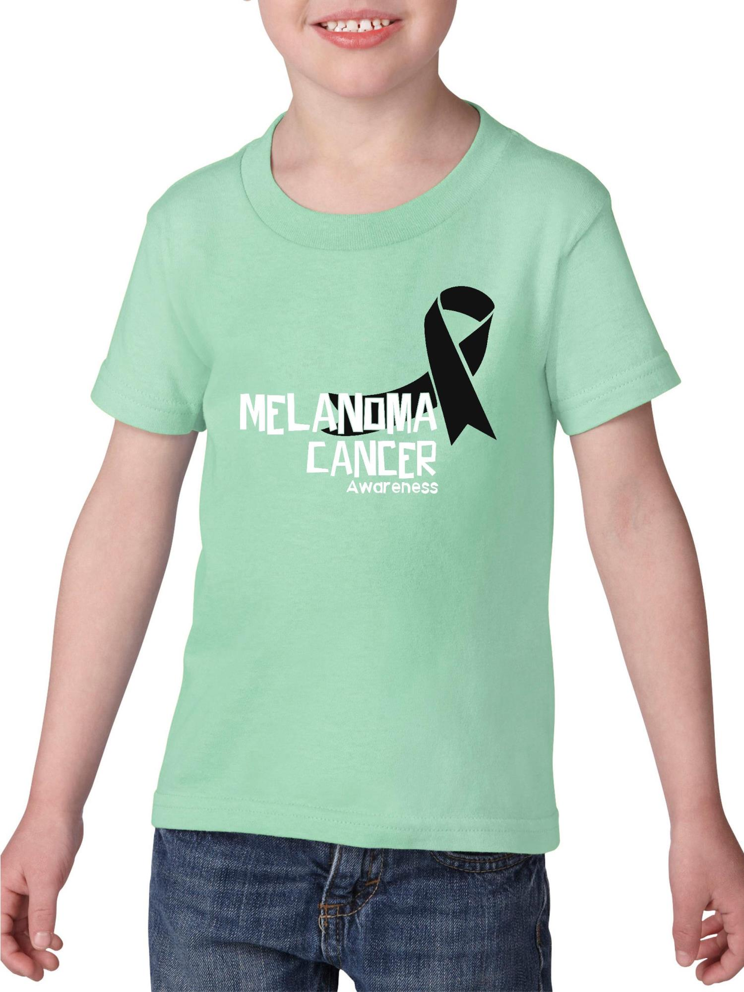 Melanoma Skin Cancer Awareness Heavy Cotton Toddler Kids T-Shirt Tee Clothing