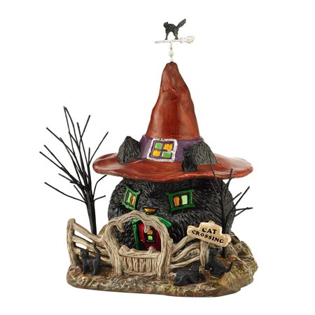 Black Vinyl Halloween Motifs (Department 56 Halloween Village 4044877  Black Cat Shack)