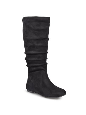 Brinley Co. Wide Calf Slouch Microsuede Boots (Women's)