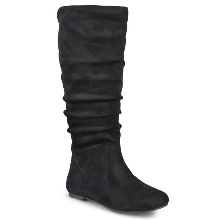 Brinley Co. Wide Calf Slouch Microsuede Boots