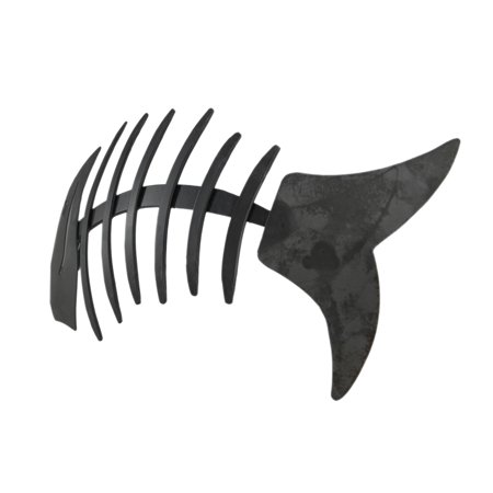 Distressed Grey Metal Fishbone Wall Hanging - image 2 of 3