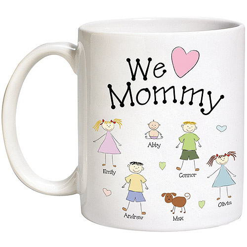 Personalized Heart Character Mug 15oz
