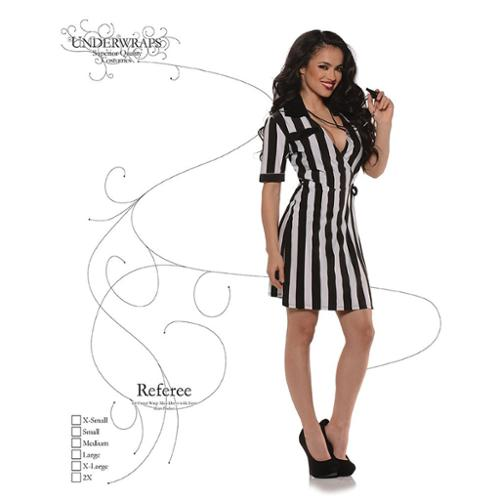 Sexy Referee Costume Dress Large