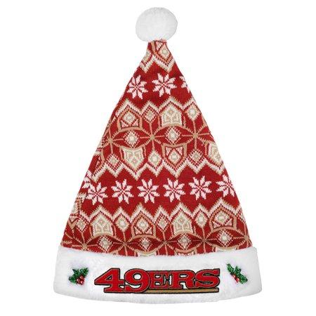 San Francisco 49ers 2015 Knit Santa Hat (Knit Santa Hat)