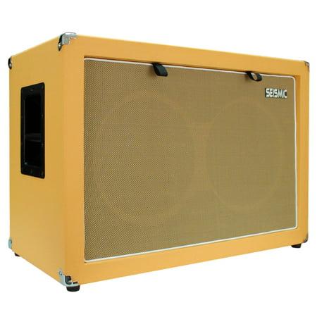 seismic audio 2x12 guitar speaker cabinet 212 empty cab orange tolex luke 2x12c orwh. Black Bedroom Furniture Sets. Home Design Ideas