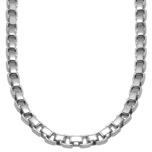 """Stainless Steel Box Link Chain, 24"""""""