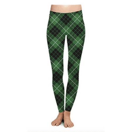Two Left Feet Lovely St. Patrick's Day Lucky Leprechaun Shamrock Green Irish Leggings (Large/X-Large, Off Kilter)