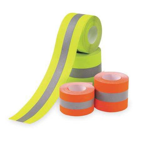 VIP SERVICES MT41B Clothing Tape,Lime/Silver,2 In Reflective tape is an ideal safety feature that can be added to machinery, vehicles, construction equipment and more. Here are some important details for Vip Services Reflective Clothing Tape. Width:  2 , Color:  Lime/Silver, Length:  25 ft..FeaturesColor: Lime/SilverWashing Instructions: Machine Washable/DryStandards: ANSI/ISEA 107-2000Length: 25 ft.Width: 2 Item: Reflective Clothing TapeInstallation Method: Sew-On