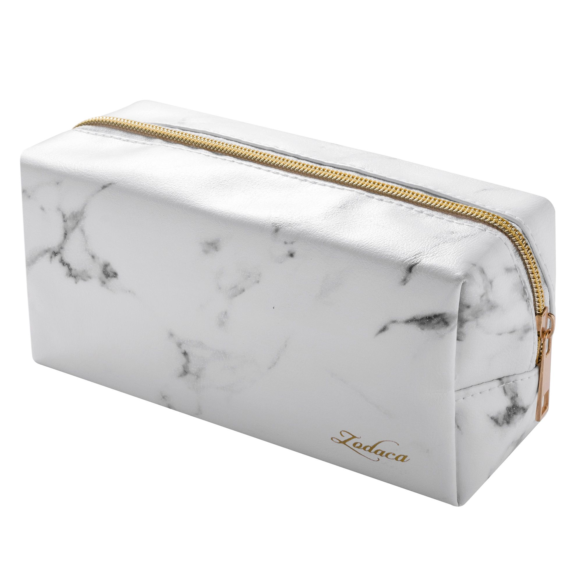 Zodaca Marble Patterned Cosmetic Makeup Toiletry Beauty Travel Zipper Bag Pouch