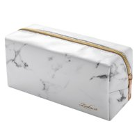 31cfc9d6f4ed Product Image Zodaca Marble Patterned Cosmetic Makeup Toiletry Beauty  Travel Zipper Bag Pouch