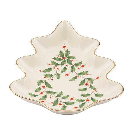 Holiday Tree Candy Dish,Ivory By Lenox Ship from US