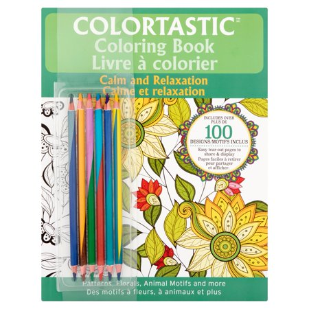Colortastic Calm And Relaxation Coloring Book