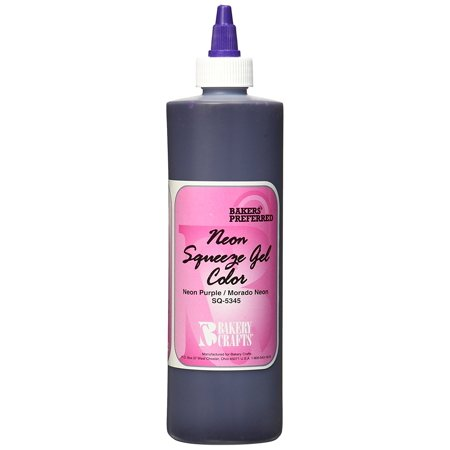 Bakery Crafts Squeeze Gel Food Color, 13.5 oz., Neon Purple ...