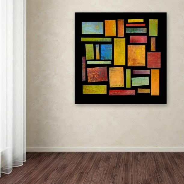 Trademark Fine Art Building Blocks Four Canvas Art By Michelle Calkins Walmart Com Walmart Com