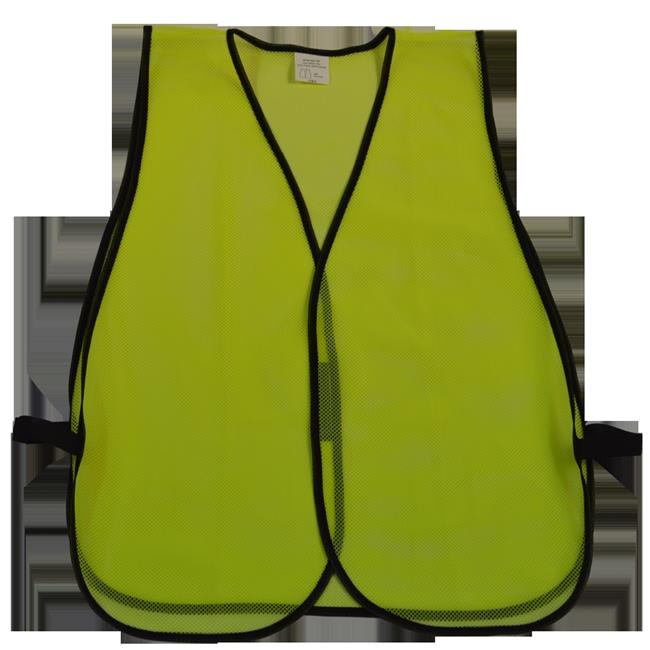 Safety Vest Lime Mesh No Reflective Tapes, Universal