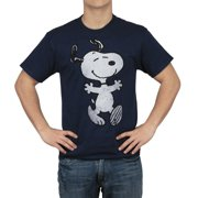 Peanuts Snoopy Hug Men's Navy T-shirt