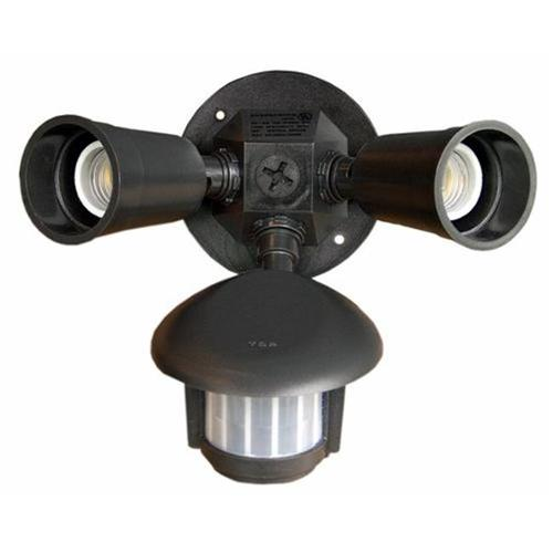 Morris Products 73210 Motion Activated Twin Par Light Bronze