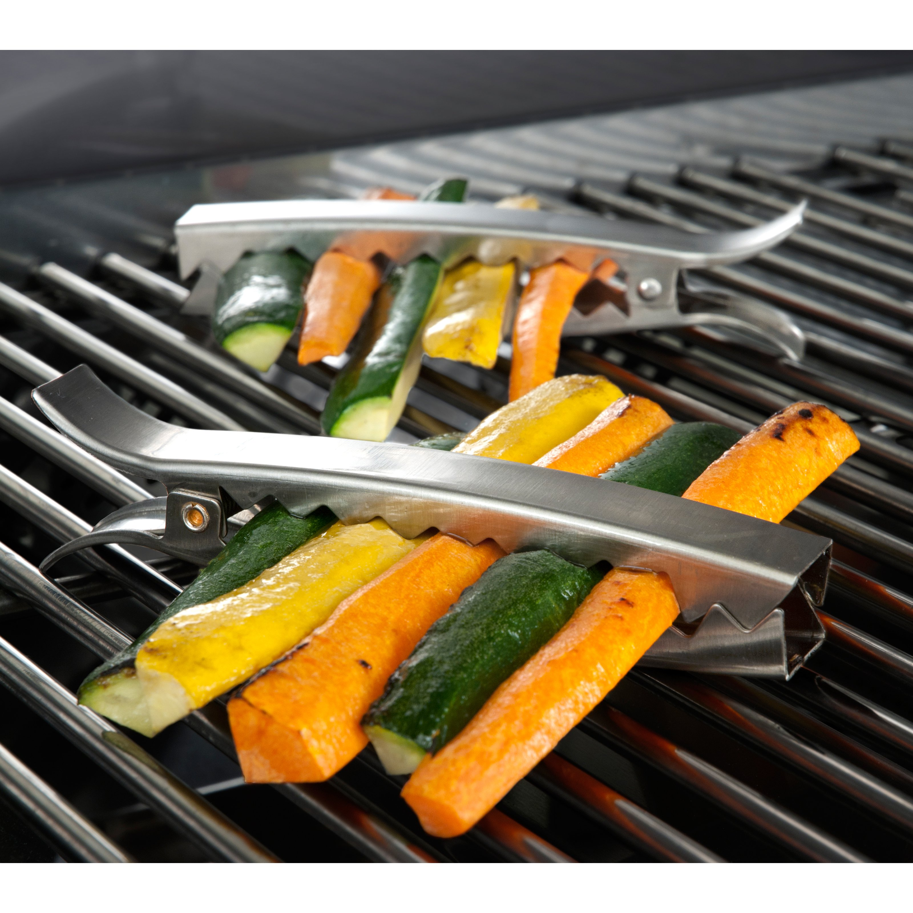 Charcoal Companion Stainless Grill Clips Set 4 by Charcoal Companion