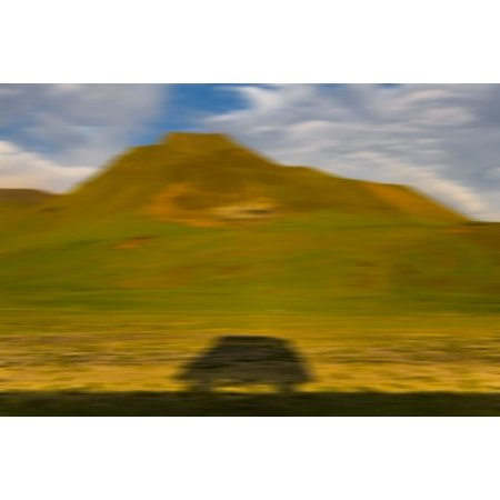 Image of Shadow of Bus South Coast Iceland Canvas Art - Panoramic Images (36 x 12)