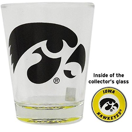 Iowa Hawkeyes Shot Glass with Team Logo at the Bottom Team Logo Shot Glass