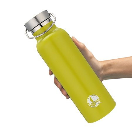 Tnr Bottle (Sports Water Bottle, KINGSO 600ml Double Wall Vacuum Insulated Stainless Steel Water Bottle Sweat Proof Standard Mouth with BPA Free Screw Cap for Hot or Cold Beverages)