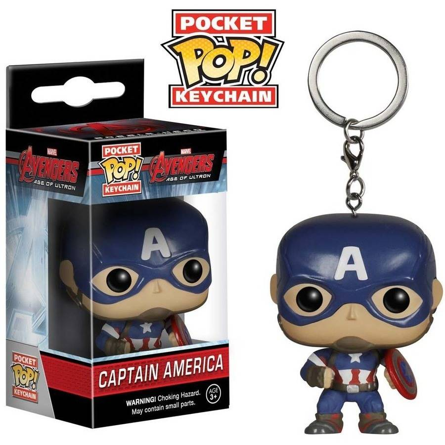 Funko - Avengers Captain America Pocket Pop! Vinyl Key Chain