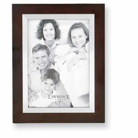 Walnut Silver Tone 5x7 Photo Frame Album Wood Hold X Gifts For Women For Her
