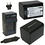 Wasabi Power Battery (2_Pack) and Charger for Sony NP_FV7...