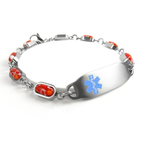 MyIDDr - Engraved CAL Lung Disease Medical Alert Bracelet...