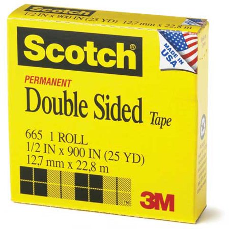 3M - #665 Scotch Double-Coated Tape - 1
