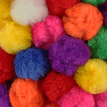 2 Inch Multi Color Craft Pom Poms 25 Pieces
