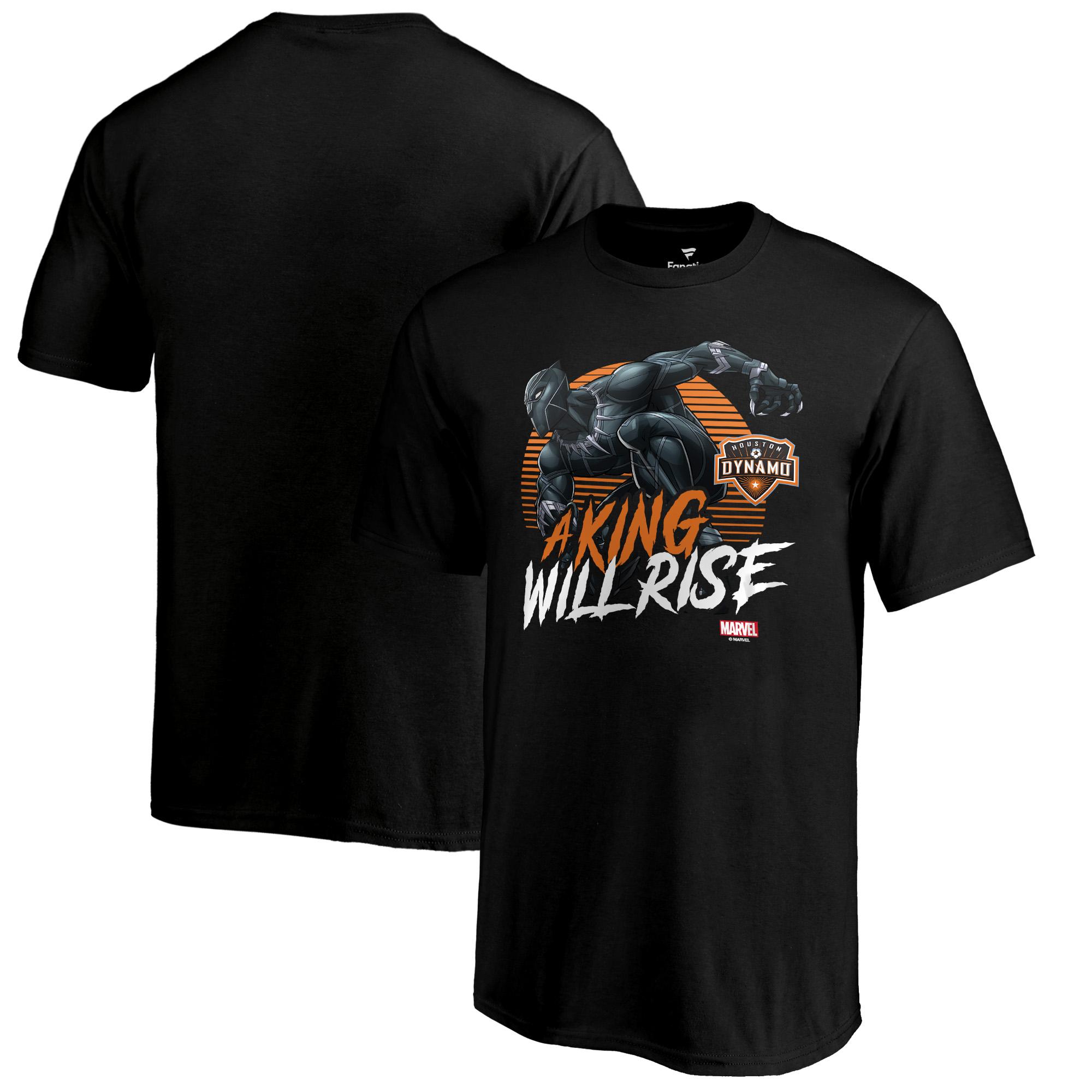 Houston Dynamo Fanatics Branded Youth Marvel Wakanda Forever T-Shirt - Black