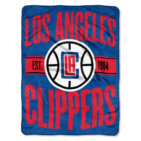 "NBA Los Angeles Clippers ""Clear Out"" 46""x 60"" Micro Raschel Throw (Clippers Nba)"