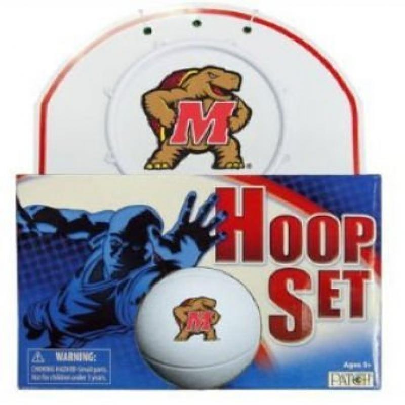 Officially Licensed NCAA Maryland Hoop Set