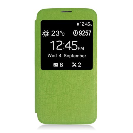 Insten Flip Leather Fabric Cover Case For Samsung Galaxy S5 - Green - image 4 de 4