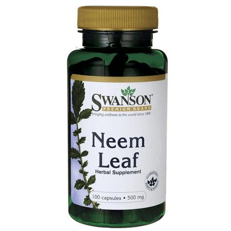 Leaf 1000 Mg 500 Tabs - Swanson Neem Leaf 500 mg 100 Caps