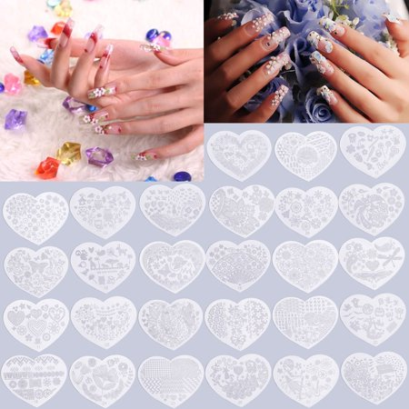 Heart Shape Nail Art Printing Plate Image Stamping Plates Manicure Template  On Clearance