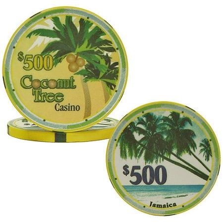 10-Gram Ceramic Coconut Tree Chips Game Day Ceramic Chip
