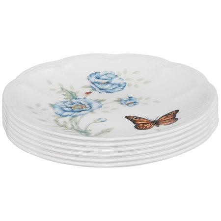 Lenox Butterfly Meadow Party Plates Set of 6 Party Plates, Set of - Lenox 9 Accent Plate