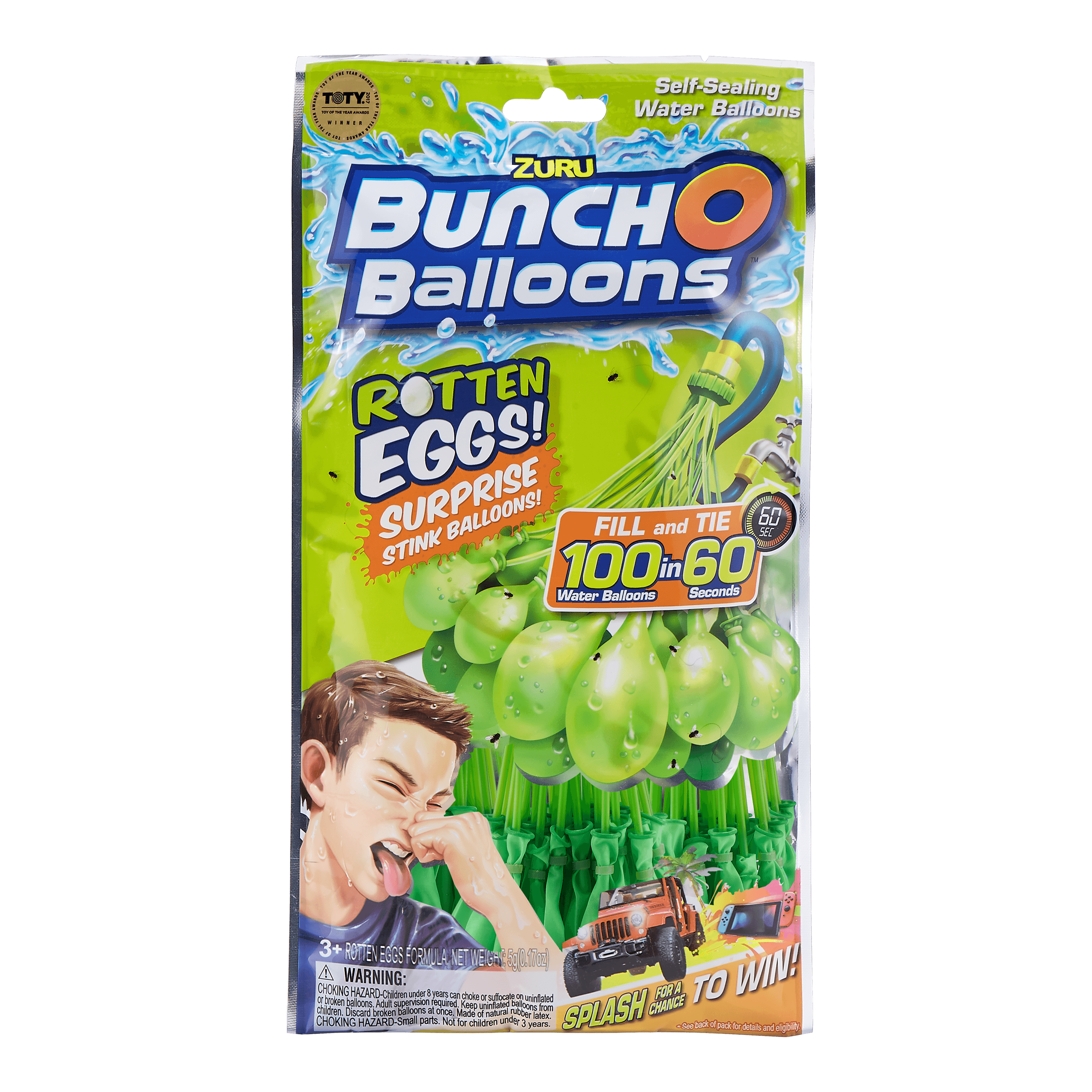 Bunch O Balloons Splash to Win Promotion Rotten Eggs with 100 Rapid-Filling Self-Sealing Water Balloons (3 Pack) by ZURU