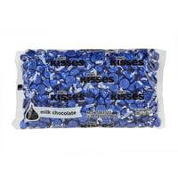 Hersheys Kisses Candy, Milk Chocolate, Dark Blue Foil, 4.1 Lb.