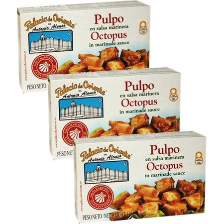 Octopus in Marinera Sauce 4 oz. from Spain Palacio De Oriente (Pack of 3)](Marinera De Halloween)
