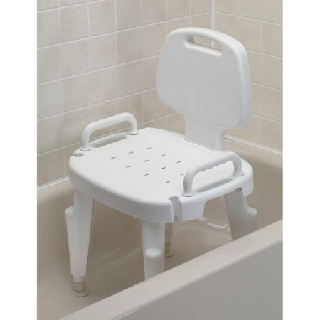 Maddak - Bath Safe Adjustable Shower Seat with Arm and Back