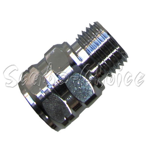 Scuba Choice Thread Adaptor M 9/16 to F 3/8-24 9/16-18 UNF-2A | 3/8-24 UNF-2B