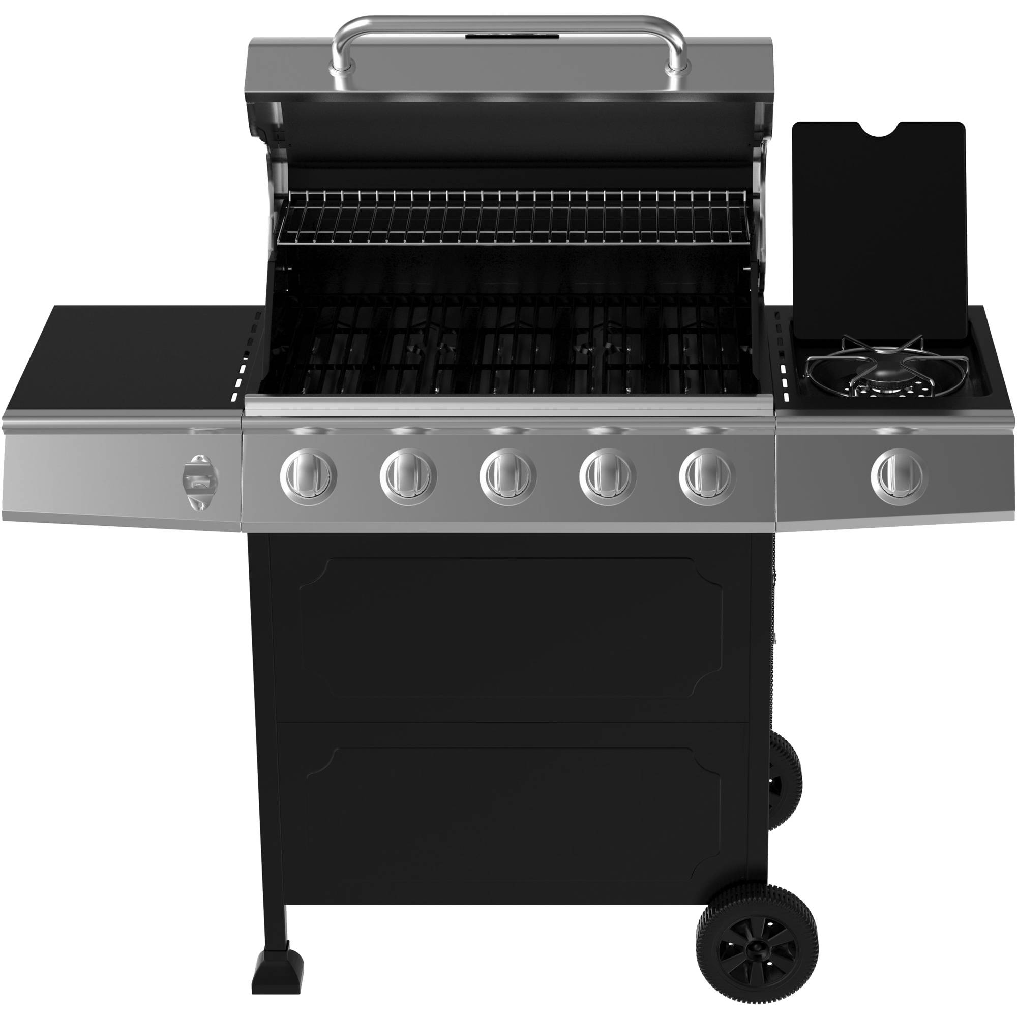 Incroyable Backyard Grill 5 Burner Gas Grill, Black   Walmart.com