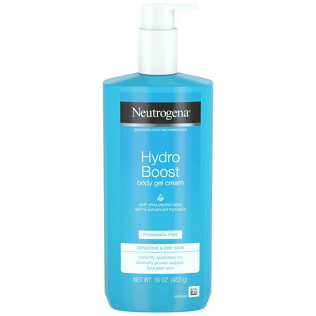 2 Pack - Neutrogena Hydro Boost Fragrance-Free Hydrating Body Gel Cream with Hyaluronic Acid, Fast Absorbing Cream for S ()